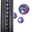 purple crystal dressage browbands