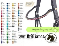 custom browbands - skinny brilliance