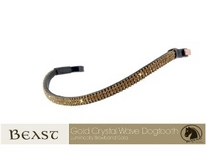 gold crystal browband