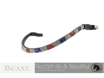 red white and blue usa olympic browband
